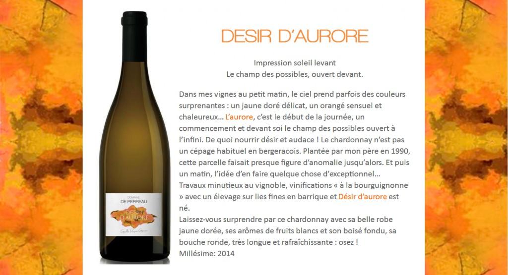 Désir d'aurore Domaine de Perreau Chardonnay