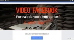 Tutoriel Vidéo Facebook Portrait de votre entreprise