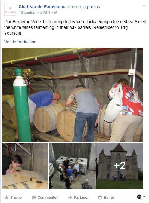 Facebook Panisseau eXpérience Mémorable d' Oenotourisme Oenostory