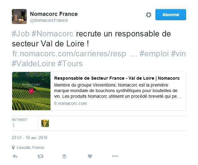 Marque employeur Mon vin et les réseaux sociaux Les pratiques des socionautes Oenostory