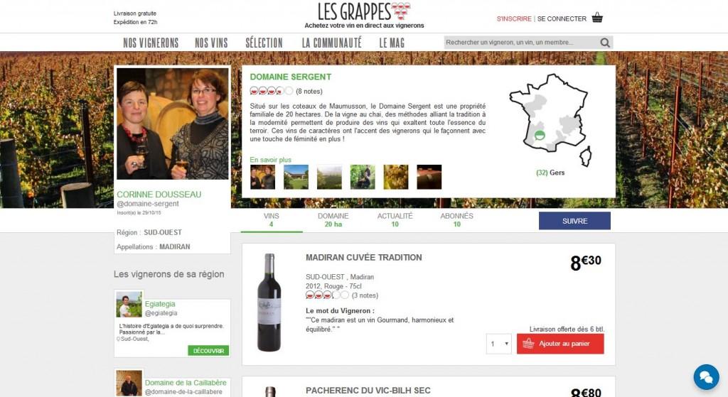 Les grappes communauté Social commerce Mon vin et les réseaux sociaux Les pratiques des socionautes Oenostory