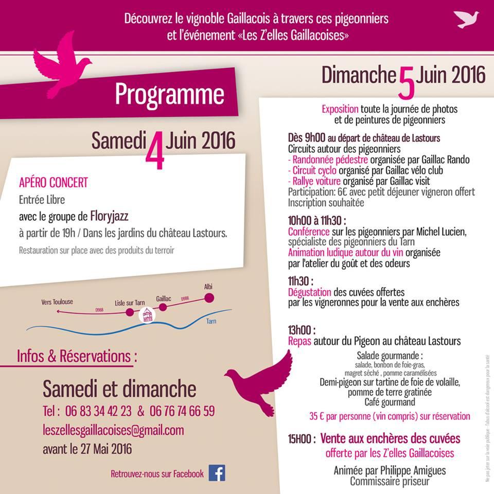 Programme Les Z'elles Gaillacoises SO Femme & Vin Oenostory