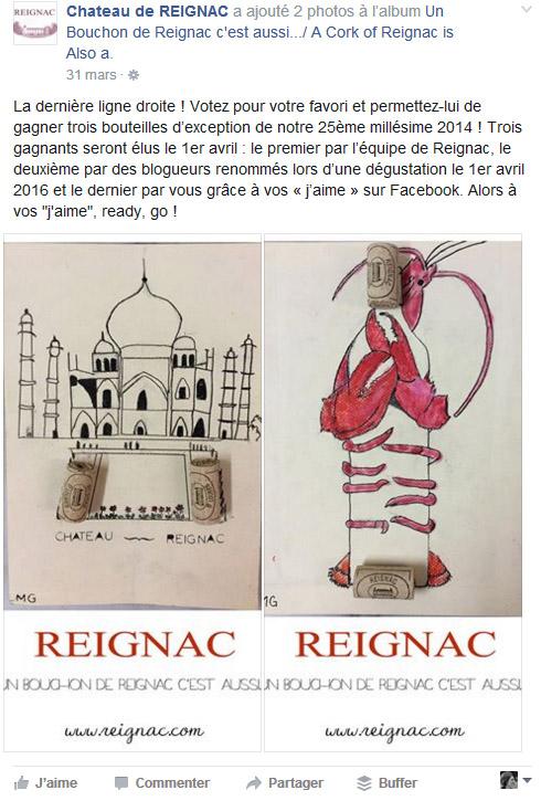 Château de Reignac Mon vin et les réseaux sociaux interaction Oenostory