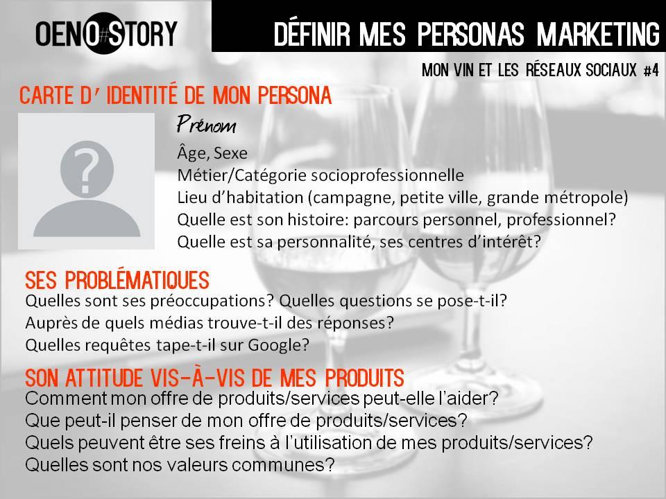 Mon vin et les réseaux sociaux stratégie social media définir mes personas Oenostory