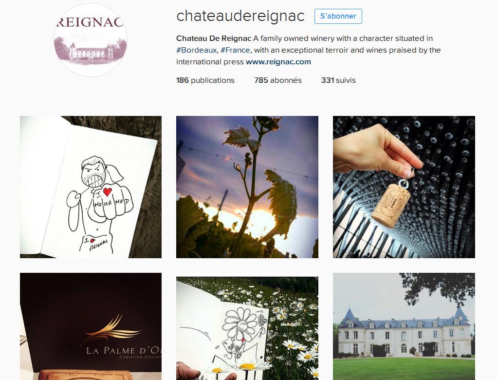 Mon vin et les réseaux sociaux Ma stratégie social media Instagram Reignac Oenostory