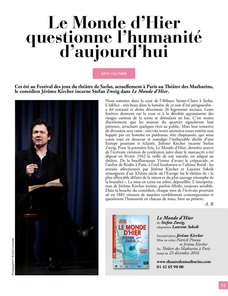 Le Mag 247 Inbound Marketing du Vin Oenostory Chronique Le Monde d'Hier Zweig Kircher