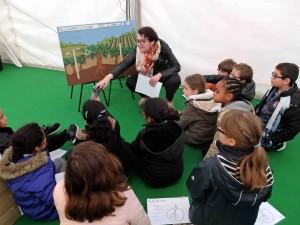 atelier découverte de la vigne SO Femme & Vin accueillir une école au domaine