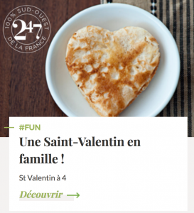 Article Saint Valentin en famille Mag 247 calendrier marketing 2017 oenostory
