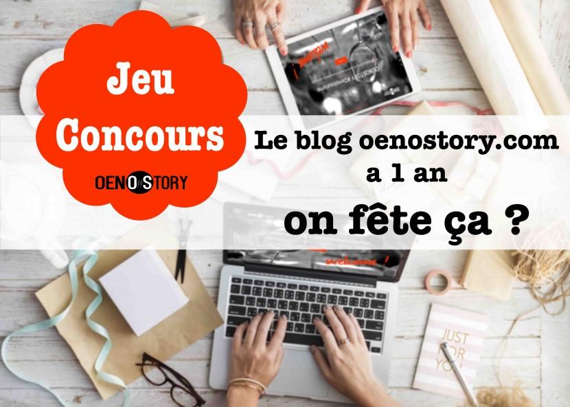 jeu concours oenostory 1 an de blog